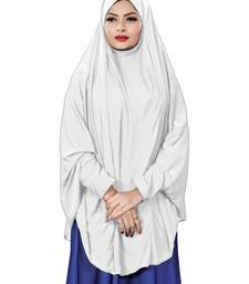 Justkartit Stitched Jersey Stretchable Islamic Chaderi Hijab With Veil And Sleeves