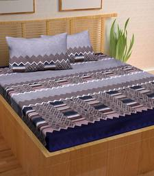 A Unique Home 100% Cotton Printed Double Bedsheet with 2 Pillow Covers