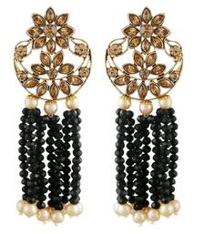 Black cubic zirconia earrings