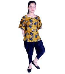 A&A FASHION PARTY WEAR TOP WITH DHOTI PANT