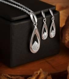 Silver cubic zirconia necklace-sets