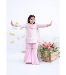 Pink Gota Embroidery Kurti with Sharara
