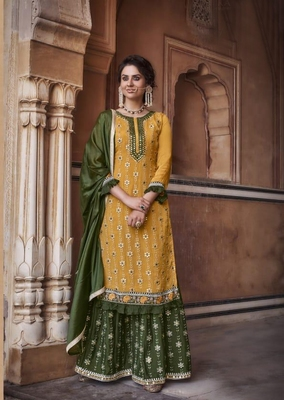 EID collection Pakistani Pattern of Heavy chinon with Embroidery Work