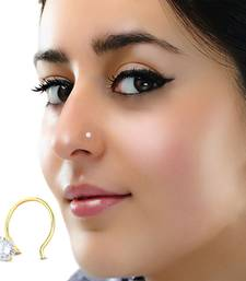 White cubic zirconia nose-ring or Nose Pin