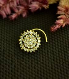 Designer 42 Diamond White cubic zirconia nose ring or Nose Pin