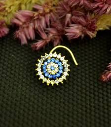 Designer 42 Diamond Blue cubic zirconia nose ring or Nose Pin