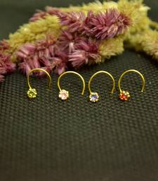 COMBO Designer Multicolor cubic zirconia nose ring or Nose Pin