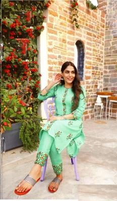 MAHATI blue cotton kurta pajama