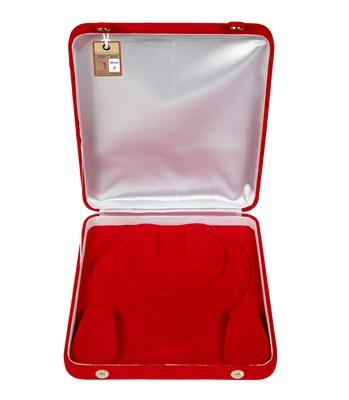 atorakushon Red Women Velvet Jewellery Storage Boxes Necklace Ring Earring Pendant Half Set Wedding Organizer Pack 1