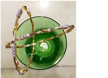 Shrimatee Gold Plated American Diamond Bangle by Arvokas ( FREE SHIPPING IN INDIA)
