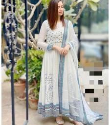 white  rayon  kurta