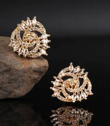 Gold plated Studded Earring
