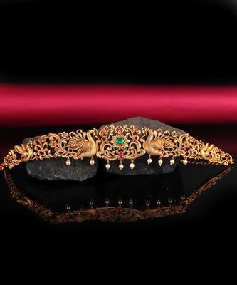 Gold plated Studded kamarband