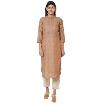 Women's Silk Brown Kurta