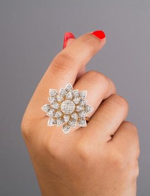 Adjustable finger women rings