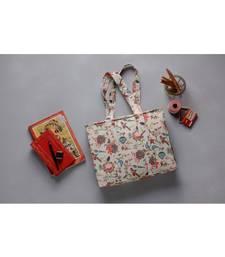 Khaki Chidiya Print Tote Bag