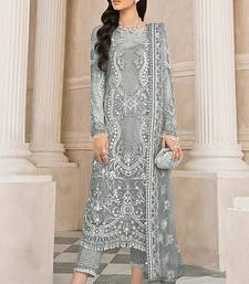 grey Heavy Designer Salwar Suit