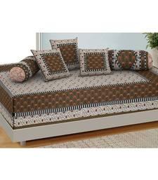 AJ Home Traditional Jaipuri 100% Cotton Diwan Set (Set of 6)