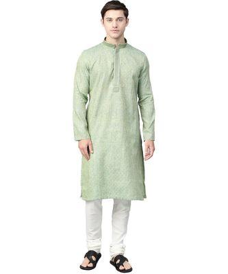 Green Silk  men kurta