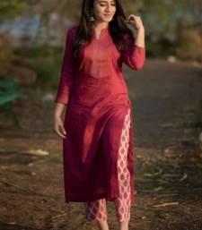 rayon red ethnic kurtis