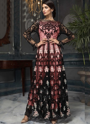 Black Sequence Designer Pakistani Suit