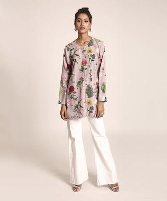 Printed Art Crepe Tunic for Women