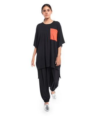 Jersey High Low Tunic with Pocket Detailing for Women