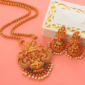 Laxmi Inspired South-Indian-Temple-Jewellery Set