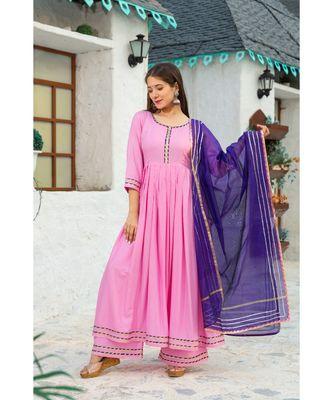 Pastel Pink Gota Suit kurta Set