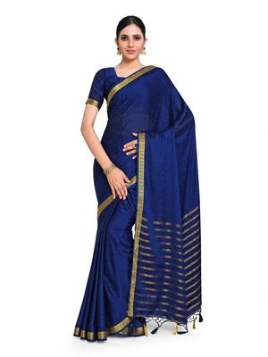 Women's Mysore Silk Crepe Saree with Blouse Piece