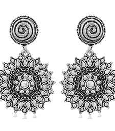 Sukkhi Trendy Oxidised Floral Dangle Earring for Women