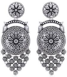 Sukkhi Eye-Catchy Oxidised Floral Chandelier Earring for Women