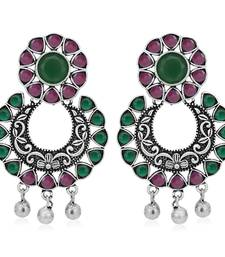 Sukkhi Amazing Oxidised Floral Chandbali Earring for Women