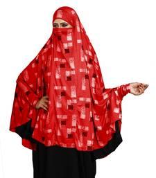 JSDC Printed Spun Lycra Women Prayer Hijab Abaya Makhna