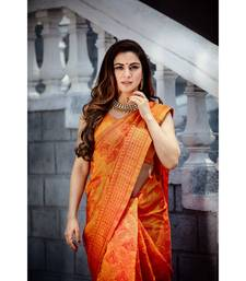 Shraddha Arya Designer Orange Art Silk Saree