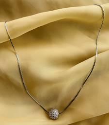 Silver Dailywear Round Pendent & Chain
