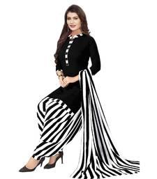 black printed synthetic patiala salwar