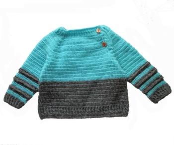 Grey hand woven woolen blends girls-jackets-coats