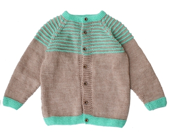 Beige hand woven woolen blends girls-jackets-coats