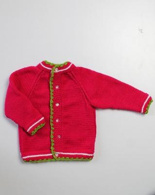 Pink hand woven woolen blends girls-jackets-coats