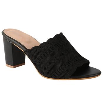 Do Bhai Black Casual Block Heels For Women