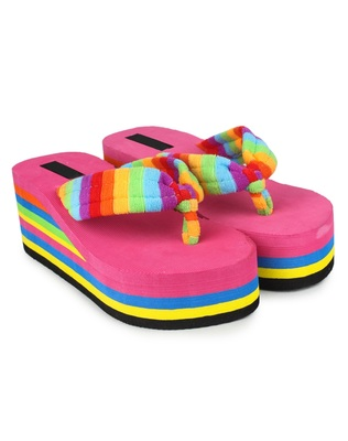 Do Bhai Pink Casual Wedges For Women