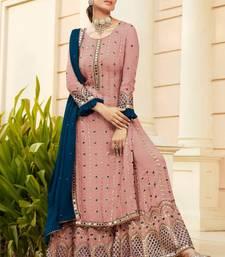 Dark Pink Georgette Pakistani Salwar Kameez