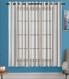 A White Printed Polyester Net Sheer Window Curtain