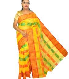 yellow cotton sarees bridal