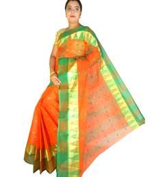 orange cotton sarees bridal
