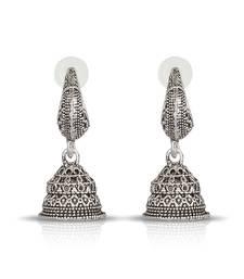 Buy Silver Plated Designer Jumkhi jhumka online