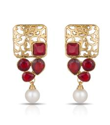 Buy Luxor Royal Red Designer Earrings ER-1281 danglers-drop online