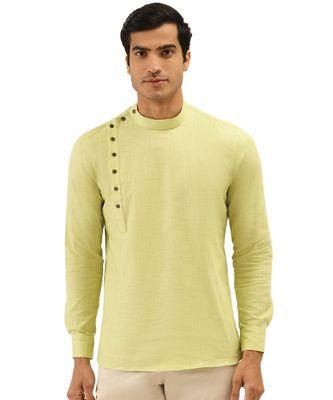 Green Art Silk Short Kurta