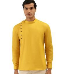 yellow Art Silk Short Kurta